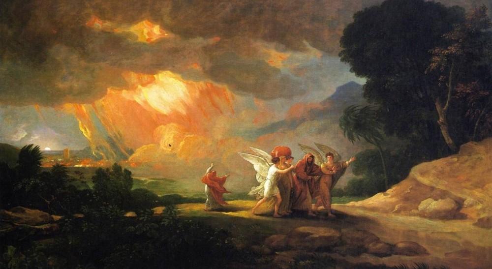 Lot et ses fille s'enfuyant de Sodome
