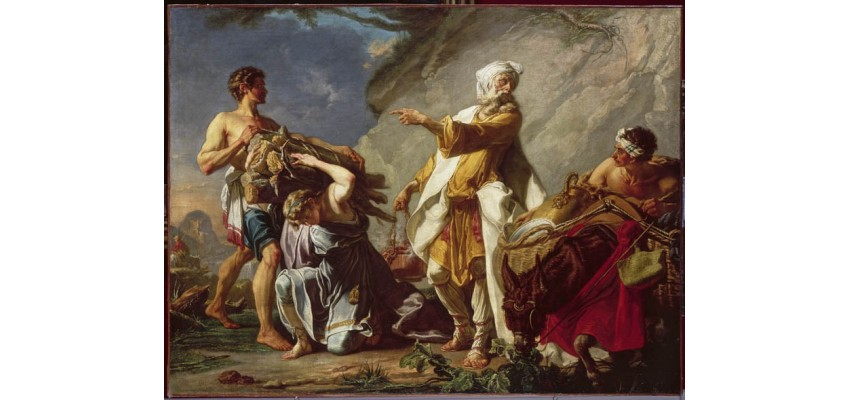 Isaac portant le bois du sacrifice