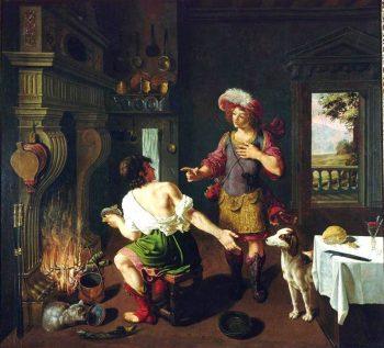 Musée d'Orléans - Ésaü vend son droit d'aînesse contre un plat de lentilles à Jacob