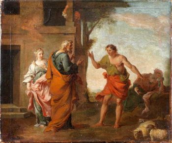 Jacob, Laban et Rachel- Nicolas Vleughels