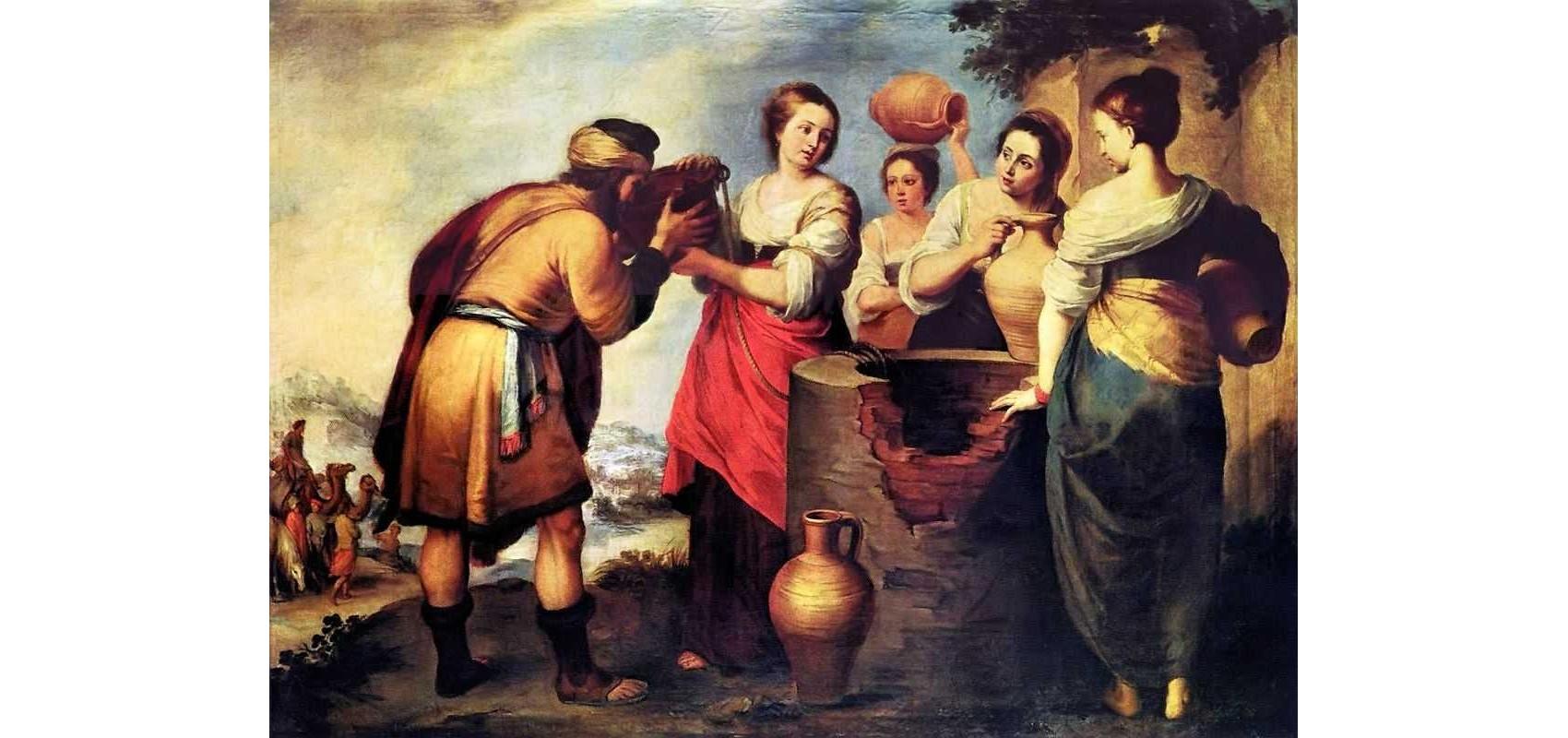 Eliézer rencontre Rébecca au puits