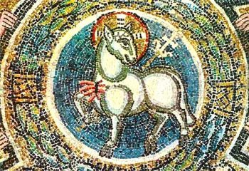 L'Agneau pascal, figure du Christ qui verse son sang pour nous