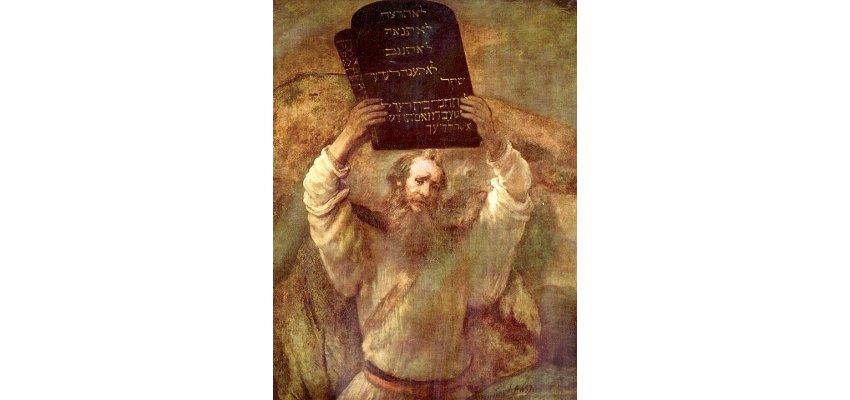 Rembrandt - Moïse brisant les tables de la Loi