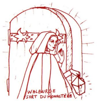 Walburge sort du monastère