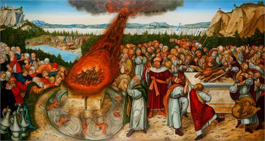 Bible au catéchisme : Élie sur le mont Carmel appelle le feu divin
