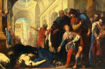 Punition divine dans la bible ; Jézabel morte et léchée par les chiens