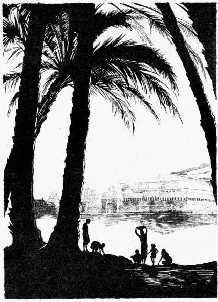 Pays biblique : L'Euphrate et Babylone.