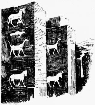 Décoration des ruines de Babylone
