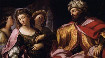 Livre de la Bible : Esther s'évanouie devans Assuérus