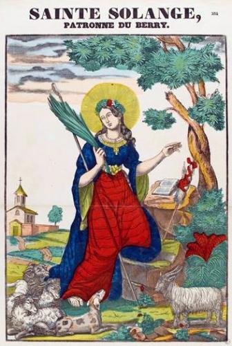 La belle bergère Sainte Solange, patronne du Berry