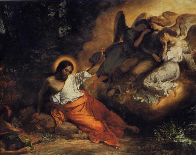 Delacroix - Le Christ jardin des oliviers