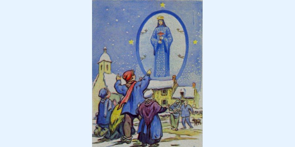 Apparition de Notre Dame aux enfants à Pontmain